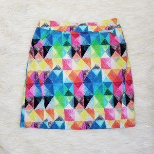 Charlie B Geometric Mini Skirt Built In Shorts